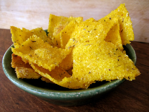 Herbed Polenta Crackers
